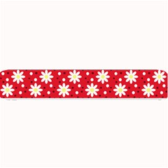 Daisy Dots Red Small Bar Mats by snowwhitegirl