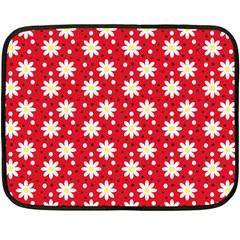 Daisy Dots Red Fleece Blanket (mini) by snowwhitegirl
