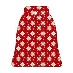 Daisy Dots Red Bell Ornament (two Sides) by snowwhitegirl