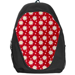 Daisy Dots Red Backpack Bag by snowwhitegirl