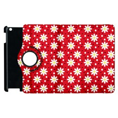 Daisy Dots Red Apple Ipad 3/4 Flip 360 Case by snowwhitegirl