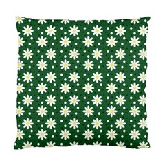Daisy Dots Green Standard Cushion Case (one Side) by snowwhitegirl
