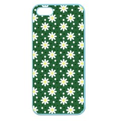 Daisy Dots Green Apple Seamless Iphone 5 Case (color)