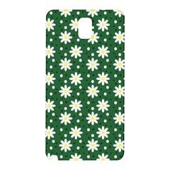 Daisy Dots Green Samsung Galaxy Note 3 N9005 Hardshell Back Case by snowwhitegirl