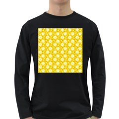 Daisy Dots Yellow Long Sleeve Dark T Shirts