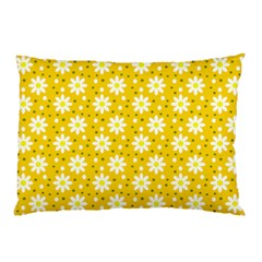 Daisy Dots Yellow Pillow Case by snowwhitegirl