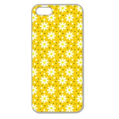 Daisy Dots Yellow Apple Seamless Iphone 5 Case (clear) by snowwhitegirl