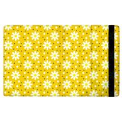 Daisy Dots Yellow Apple Ipad 3/4 Flip Case by snowwhitegirl