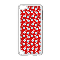 Square Flowers Red Apple Ipod Touch 5 Case (white) by snowwhitegirl