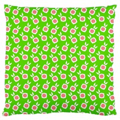 Square Flowers Green Standard Flano Cushion Case (one Side) by snowwhitegirl