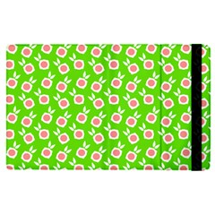 Square Flowers Green Apple Ipad Pro 9 7   Flip Case