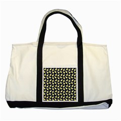 Square Flowers Navy Blue Two Tone Tote Bag by snowwhitegirl