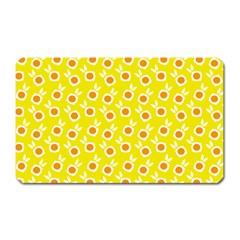 Square Flowers Yellow Magnet (rectangular) by snowwhitegirl