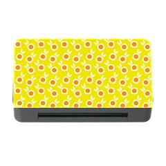 Square Flowers Yellow Memory Card Reader With Cf by snowwhitegirl