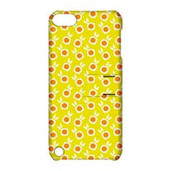 Square Flowers Yellow Apple Ipod Touch 5 Hardshell Case With Stand by snowwhitegirl