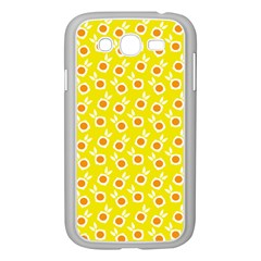 Square Flowers Yellow Samsung Galaxy Grand Duos I9082 Case (white) by snowwhitegirl