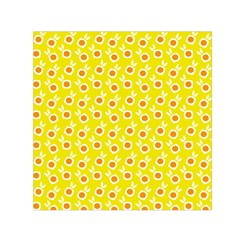 Square Flowers Yellow Small Satin Scarf (square) by snowwhitegirl