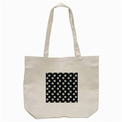 Daisy Dots Navy Blue Tote Bag (cream) by snowwhitegirl
