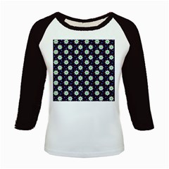 Daisy Dots Navy Blue Kids Baseball Jerseys by snowwhitegirl