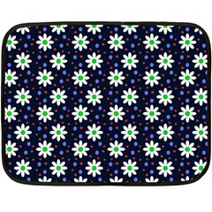 Daisy Dots Navy Blue Fleece Blanket (mini) by snowwhitegirl