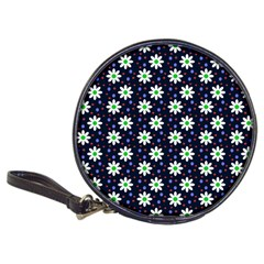 Daisy Dots Navy Blue Classic 20 Cd Wallets by snowwhitegirl