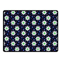Daisy Dots Navy Blue Fleece Blanket (small) by snowwhitegirl