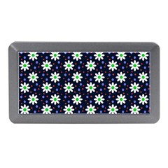 Daisy Dots Navy Blue Memory Card Reader (mini) by snowwhitegirl