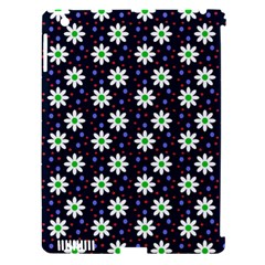 Daisy Dots Navy Blue Apple Ipad 3/4 Hardshell Case (compatible With Smart Cover) by snowwhitegirl