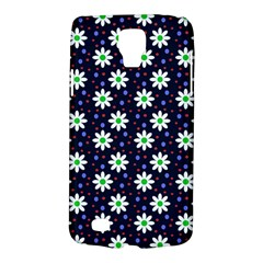 Daisy Dots Navy Blue Galaxy S4 Active by snowwhitegirl