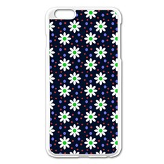 Daisy Dots Navy Blue Apple Iphone 6 Plus/6s Plus Enamel White Case by snowwhitegirl