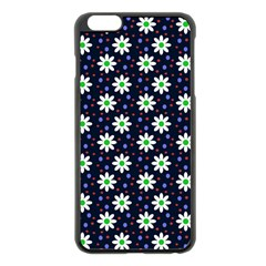 Daisy Dots Navy Blue Apple Iphone 6 Plus/6s Plus Black Enamel Case by snowwhitegirl