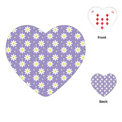 Daisy Dots Violet Playing Cards (heart)  by snowwhitegirl