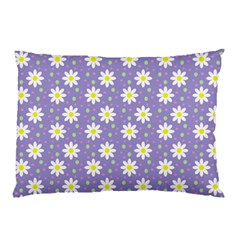 Daisy Dots Violet Pillow Case by snowwhitegirl