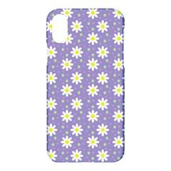 Daisy Dots Violet Apple Iphone X Hardshell Case by snowwhitegirl