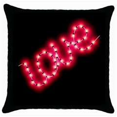 Love Black Throw Pillow Case by walala