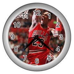 Michael Jordan Wall Clocks (silver)  by LABAS