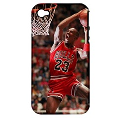 Michael Jordan Apple Iphone 4/4s Hardshell Case (pc+silicone) by LABAS