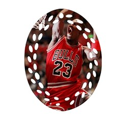 Michael Jordan Oval Filigree Ornament (two Sides) by LABAS