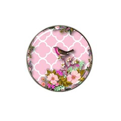 Shabby Chic,floral,bird,pink,collage Hat Clip Ball Marker by 8fugoso