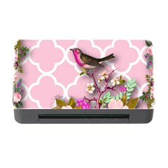 Shabby Chic,floral,bird,pink,collage Memory Card Reader With Cf by 8fugoso