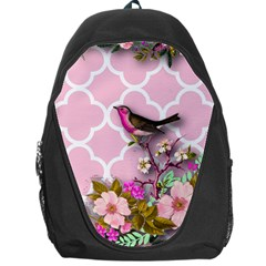 Shabby Chic,floral,bird,pink,collage Backpack Bag by 8fugoso