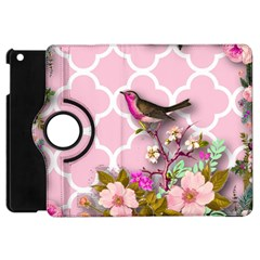 Shabby Chic,floral,bird,pink,collage Apple Ipad Mini Flip 360 Case by 8fugoso