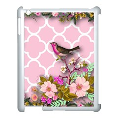 Shabby Chic,floral,bird,pink,collage Apple Ipad 3/4 Case (white) by 8fugoso