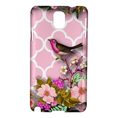 Shabby Chic,floral,bird,pink,collage Samsung Galaxy Note 3 N9005 Hardshell Case by 8fugoso