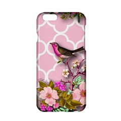 Shabby Chic,floral,bird,pink,collage Apple Iphone 6/6s Hardshell Case by 8fugoso