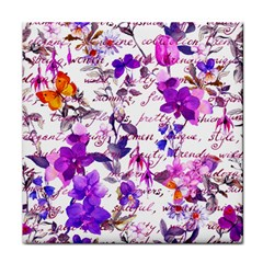 Ultra Violet,shabby Chic,flowers,floral,vintage,typography,beautiful Feminine,girly,pink,purple Tile Coasters by 8fugoso