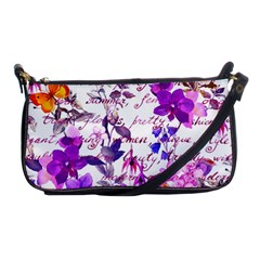 Ultra Violet,shabby Chic,flowers,floral,vintage,typography,beautiful Feminine,girly,pink,purple Shoulder Clutch Bags by 8fugoso