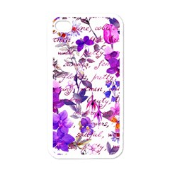 Ultra Violet,shabby Chic,flowers,floral,vintage,typography,beautiful Feminine,girly,pink,purple Apple Iphone 4 Case (white) by 8fugoso