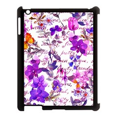 Ultra Violet,shabby Chic,flowers,floral,vintage,typography,beautiful Feminine,girly,pink,purple Apple Ipad 3/4 Case (black) by 8fugoso
