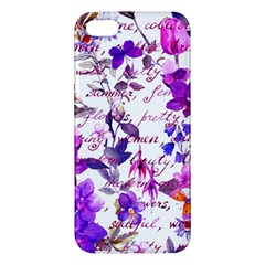 Ultra Violet,shabby Chic,flowers,floral,vintage,typography,beautiful Feminine,girly,pink,purple Apple Iphone 5 Premium Hardshell Case by 8fugoso